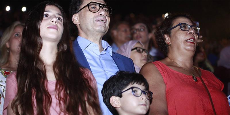 بالصّور : محمد زين العابدين و سعيدة قراش في حفل كاظم الساهر بمهرجان قرطاج