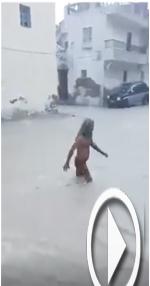 بالفيديو: منصف كحلوشة يسبح في مياه الأمطار في سوسة