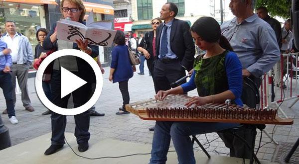 بالفيديو: بالموسيقى والورود مكتبة الكتاب تحتفي بروح الفقيد الصغير أولاد أحمد