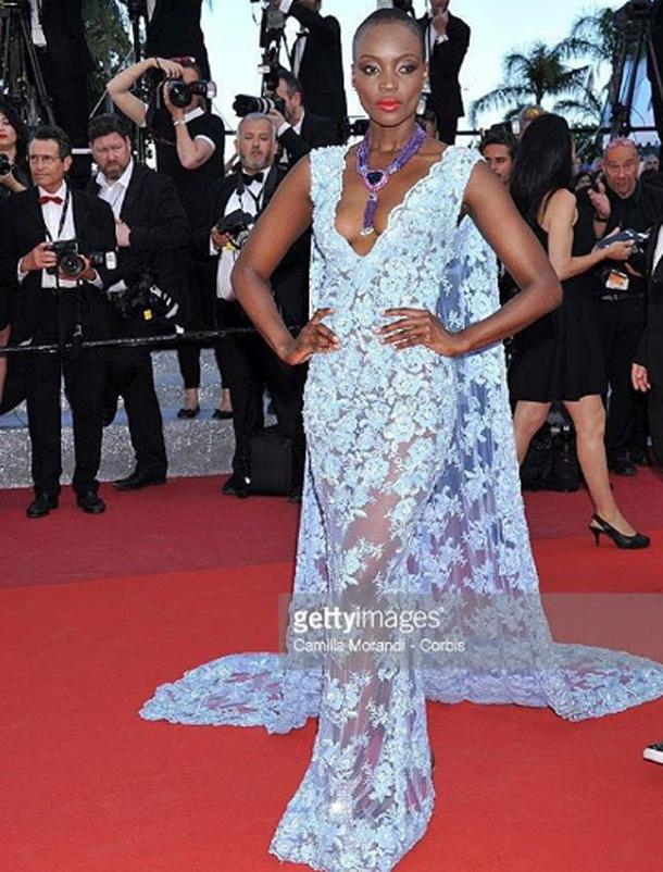 En photos : Miriam Odemba dans une fabuleuse robe signée Ali Karoui