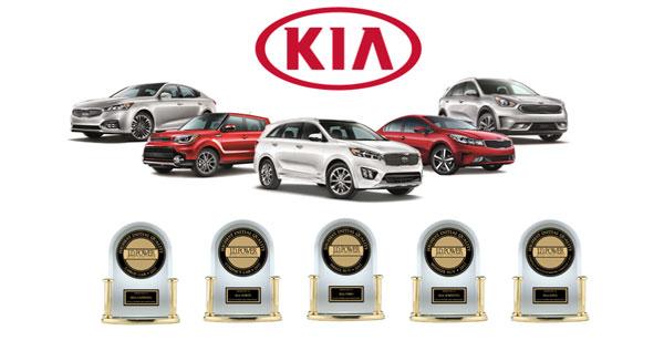 Kia en tête du classement sur la qualité initiale de J.D. Power pour la deuxième année consécutive