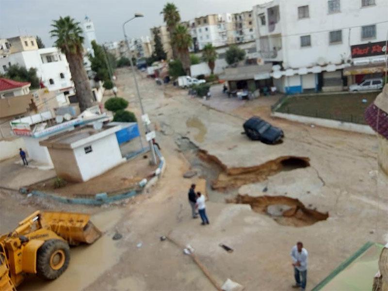 بالصور، هكذا أصبحت مدينة قصر سعيد بعد الأمطار
