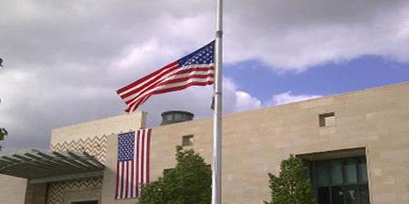 صور: حرق علم أمريكا أمام سفارتها بتونس