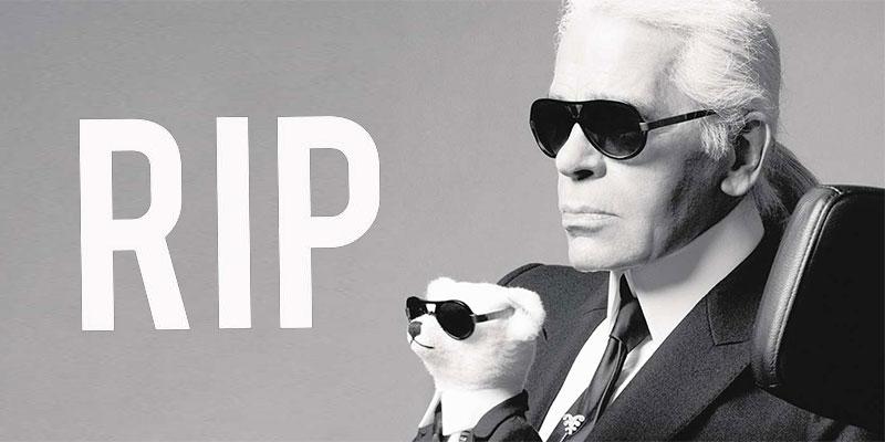 Le couturier Karl Lagerfeld n'est plus