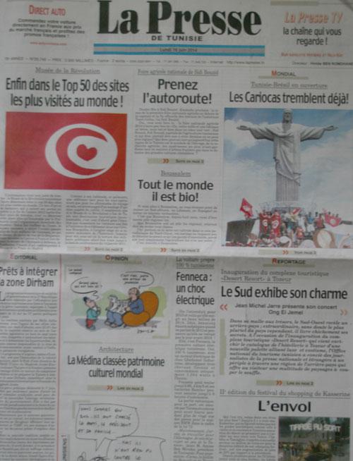 La Presse d'aujourd'hui : Une édition spéciale qui date du 16 juin 2014 !