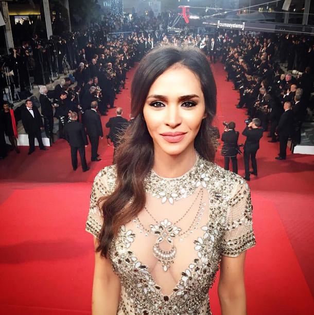 En photos : Leila Ben khalifa dans une robe signée Diamond For Eden au festival de Cannes