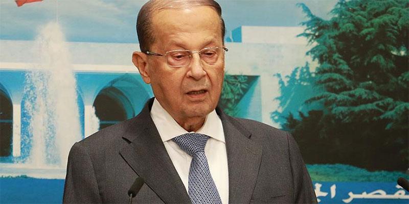 الرئيس اللبناني يندد بالمجزرة الإسرائيلية بغزة
