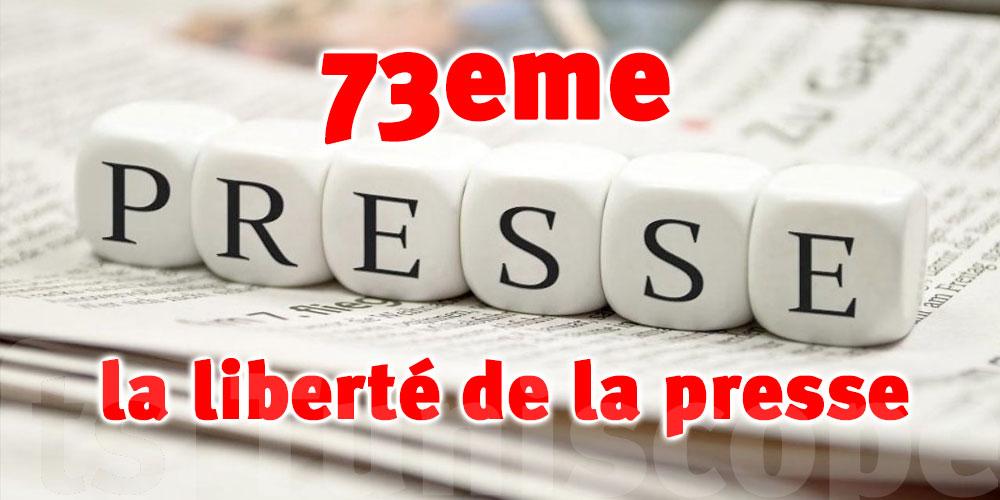 La Tunisie rétrogradée au 73e rang pour la liberté de la presse pour 2021