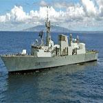 سفينة حربية إيطالية في السواحل الليبية