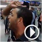 بالفيديو - مطار تونس قرطاج : مواطن ليبي يصاب بحالة هيستيرية إثر تهكم أحد أعوان الخطوط التونسية على بلاده