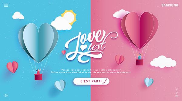 Découvrez le Love test de Samsung