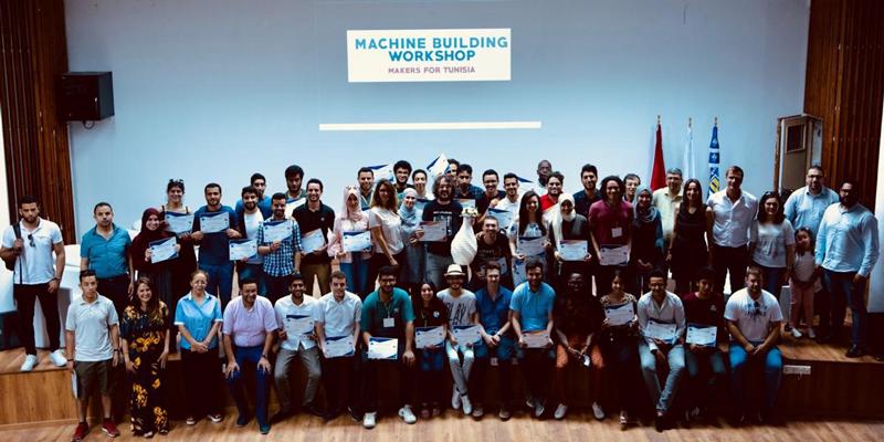 Workshop de fabrication de machines 3D en Tunisie : Makers for Tunisia