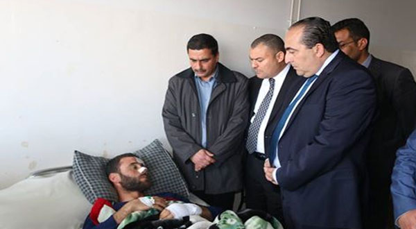 كاتب الدولة في زيارة لجرحى حادث المهدية