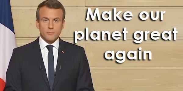 Make our planet great again : quand Emmanuel Macron détourne le slogan de Donald Trump