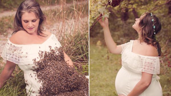 بعد صور النحل يغزو بطنها.. أم ''شهيرة'' تلد طفلها ميتا