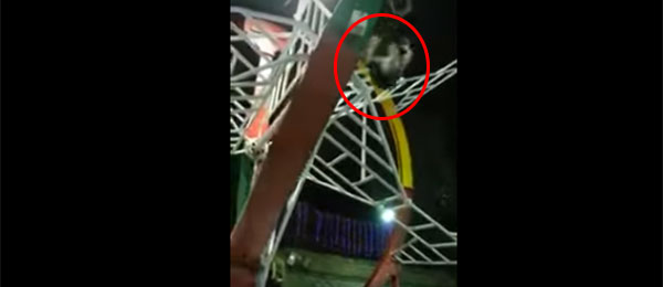 فيديو مرعب: مصري يسقط من لعبة ملاهٍ ويصاب بكسور خطيرة