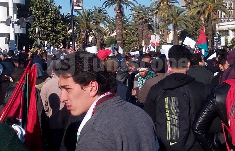 نصرةََ للقدس، الصّور الأولى للمسيرة وسط العاصمة و حضور أمني مكثّف