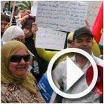 En vidéo : les manifestants de la Kasbah contre les médias et Nidaa Tounes
