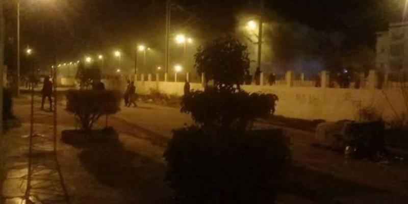 الأهالي ينضمون لأعوان الأمن للتصدي لمهاجمة قطار سوسة من قبل منحرفين