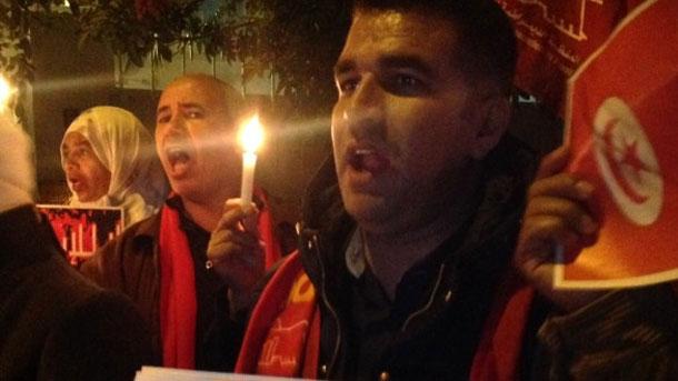 En photos : Les Marocains manifestent leur solidarité avec la Tunisie, à Rabat