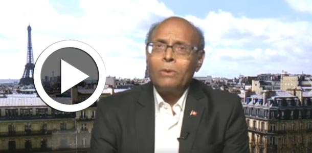 En vidéo : Interviewé par une chaîne de télévision étrangère, Moncef Marzouki s'en prend à Béji Caid Essebsi