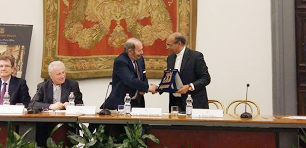 Moncef Marzouki reçoit le prix de la fondation Ducci pour la Paix