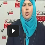 فيديو: مباركة عواينية تحمل المشعل الذي تركه الشهيد البراهمي لتكمل المسيرة
