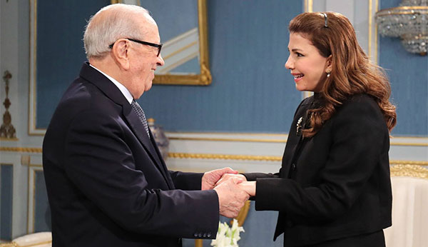 قايد السبسي يستقبل بقصر قرطاج الفنانة اللبنانية ماجدة الرومي