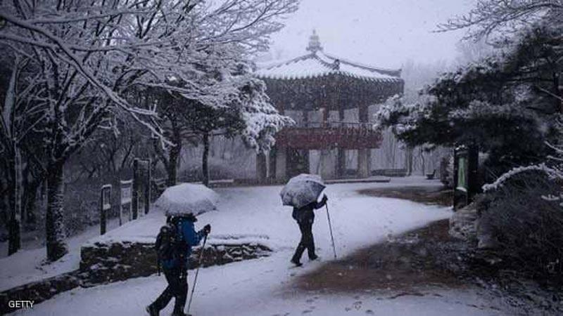 البرد يجمد كوريا الجنوبية: والحرارة 25 تحت الصفر