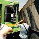En photos : Collision d'un métro et d'un camion à Manouba