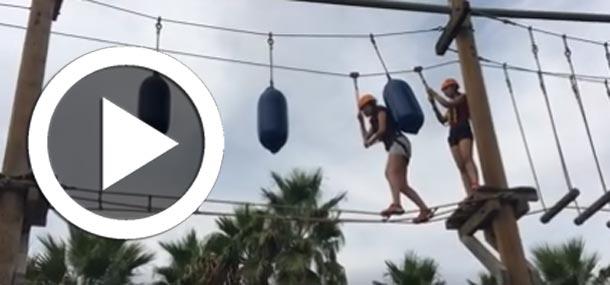 En vidéos : Quand les candidates du concours Miss Tunisie font du High Ropes Challenge Course...
