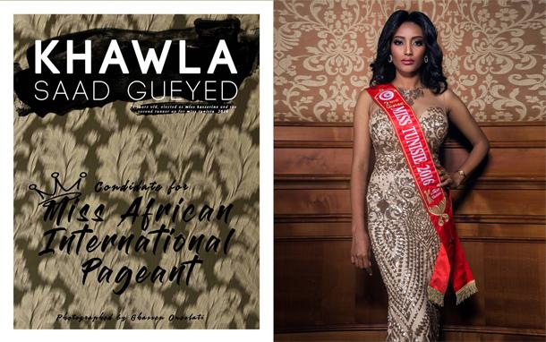 Miss Kasserine participe au concours Miss Afrique international 2017