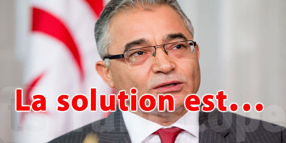 La solution pour sortir de la crise selon Mohsen Marzouk