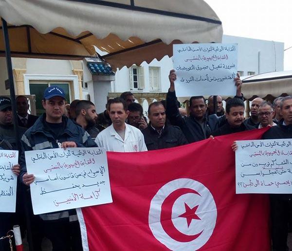 بعد الاعتداء على زميلهم : وقفة احتجاجية للأمنيين بالمنستير