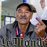 Le monde titre : En Tunisie, l'élection présidentielle s'achemine vers un second tour