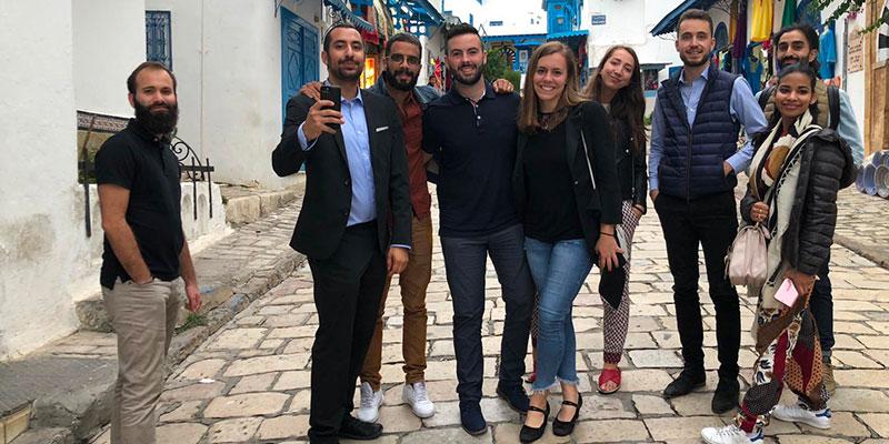 30 jeunes entrepreneurs francais quebecois et tunisiens en mission economique en tunisie