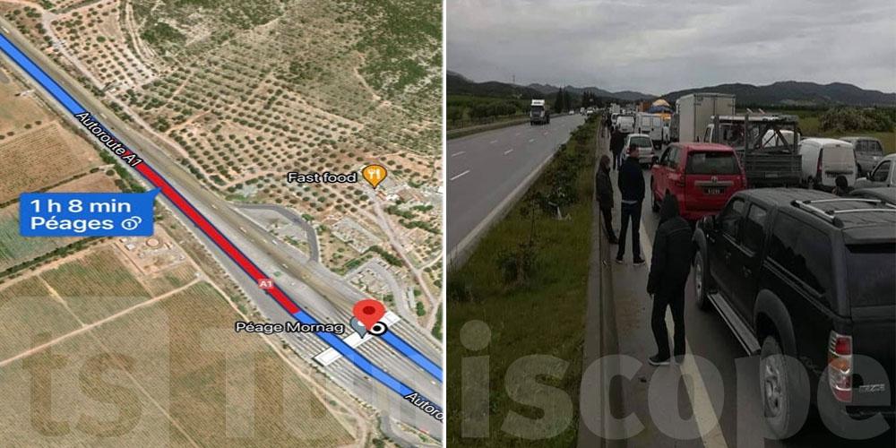 Confinement-général :  blocage sur cette autoroute
