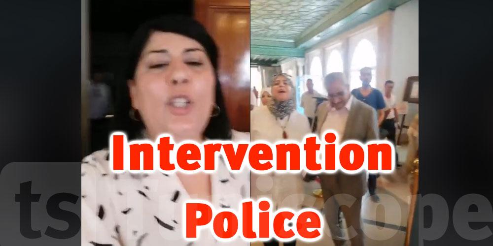 En vidéo: La police au parlement pour disperser le sit-in de Abir Moussi