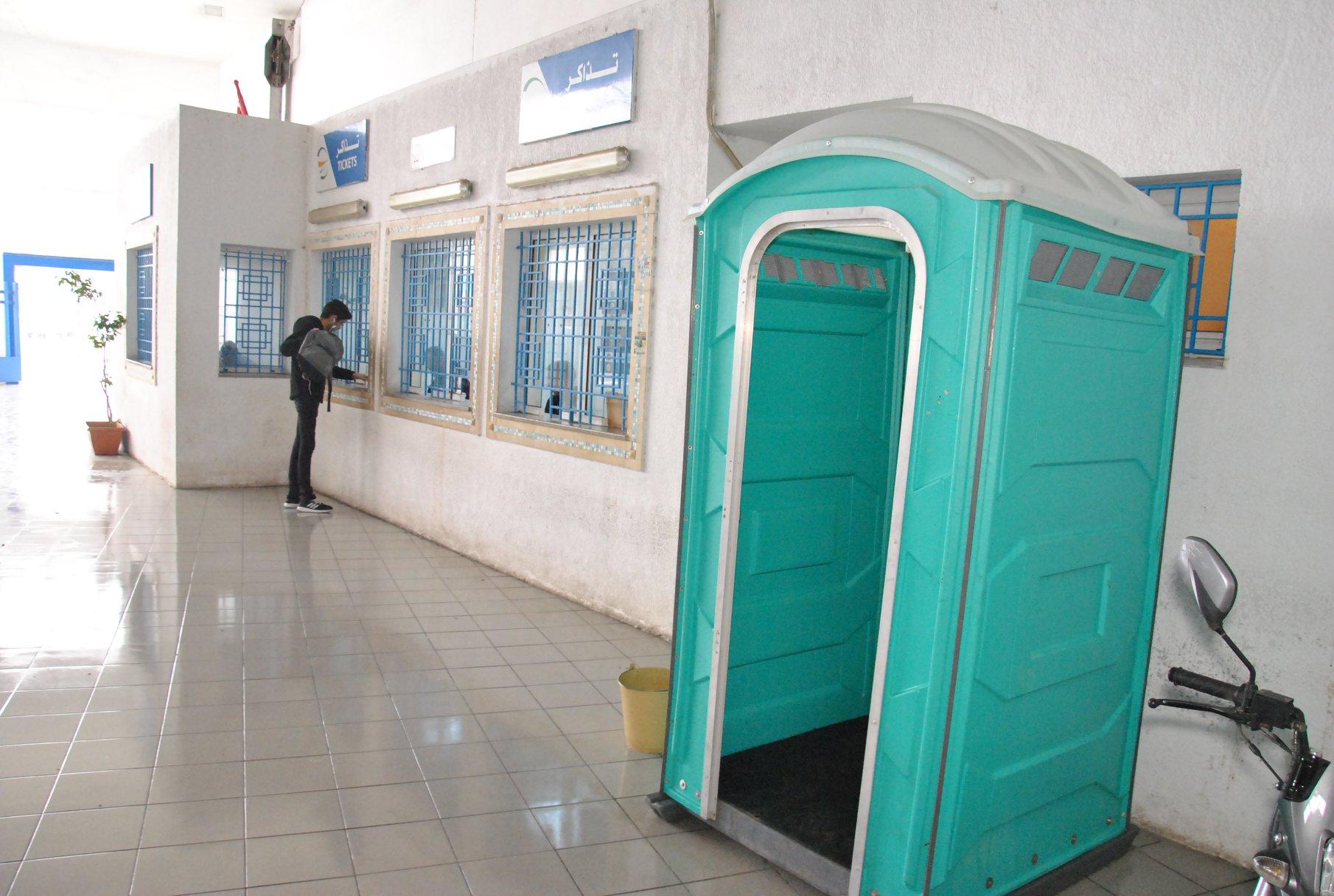 Les unités sanitaires installées dans les rues de la capitale par la municipalité de Tunis