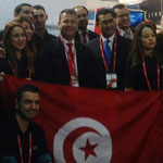 Noomane Fehri innaugure le stand de la Tunisie au Mobile World Congress 2015