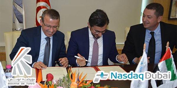 En photos : Signature d'un protocole d'accord entre la Bourse de Tunis et Nasdaq Dubaï