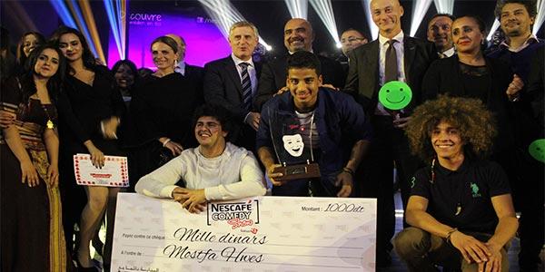 En vidéo : Mohamed Ali Tounssi, le grand gagnant de la troisième édition de Nescafé Comedy Show