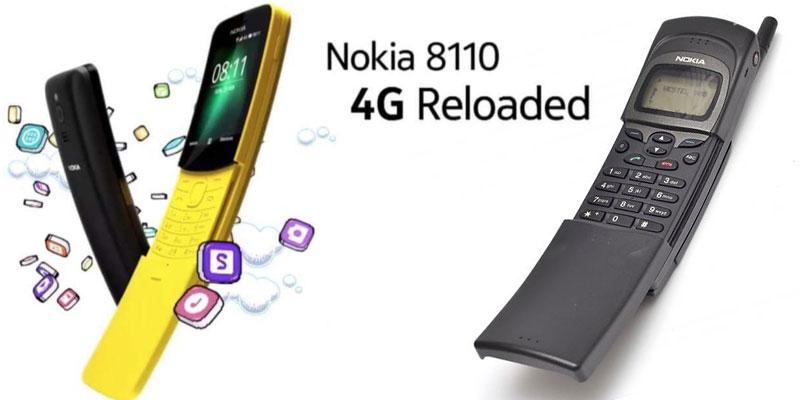 Le légendaire Nokia 8110 de retour en version 4G
