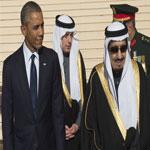 الملك سلمان يستقبل الرئيس الأميركي أوباما في الرياض