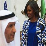 À cheveux découverts, Michelle Obama choque l'Arabie saoudite