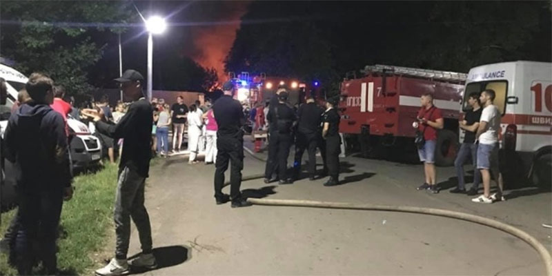 مصرع 8 أشخاص في حريق فندق بأوديسا الأوكرانية