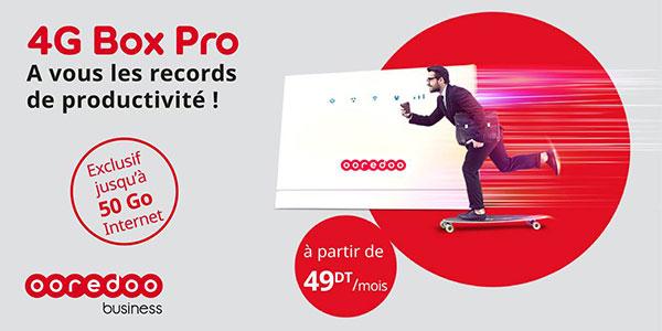 Ooredoo lance la 4G Box Pro : Le volume internet le plus avantageux du marché