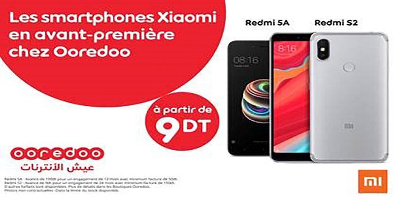Ooredoo lance en avant-première les deux Smartphones Xiaomi Redmi 5A et Redmi S2