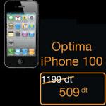Tarifs iPhone 4 en Tunisie Optima 100