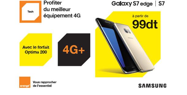 Orange Tunisie lance les nouveaux Smartphones haut de gamme Samsung Galaxy S7 et S7 Edge